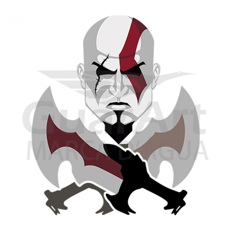 Camiseta Game God of War Exclusiva - Malha Fria Branca