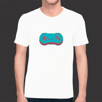 Camiseta Game Exclusiva Joystick 1 - Malha Fria Branca