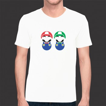 Camiseta Game Mario Bros Exclusiva - Malha Fria Branca