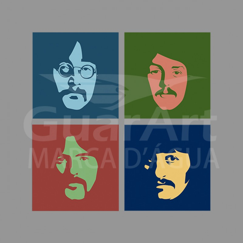 Camiseta Beatles 3 Exclusiva Rock - Algodão