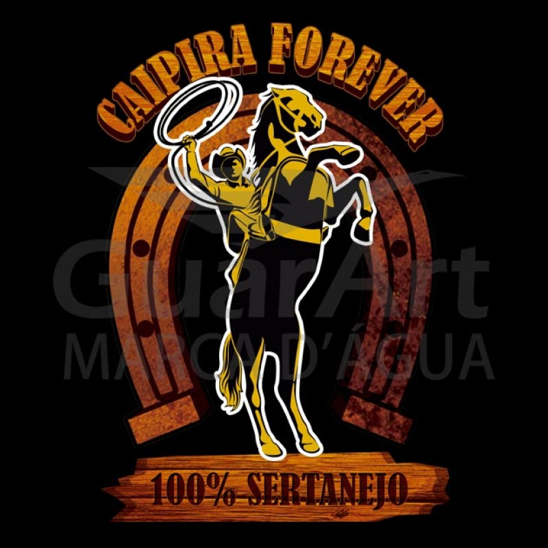 Camiseta Sertanejo Exclusiva Caipira Forever - Polo