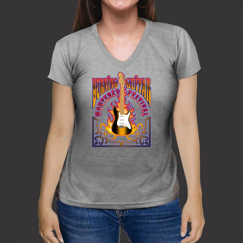 Camiseta Guitarra Jimi Hendrix Exclusiva Rock - Algodão