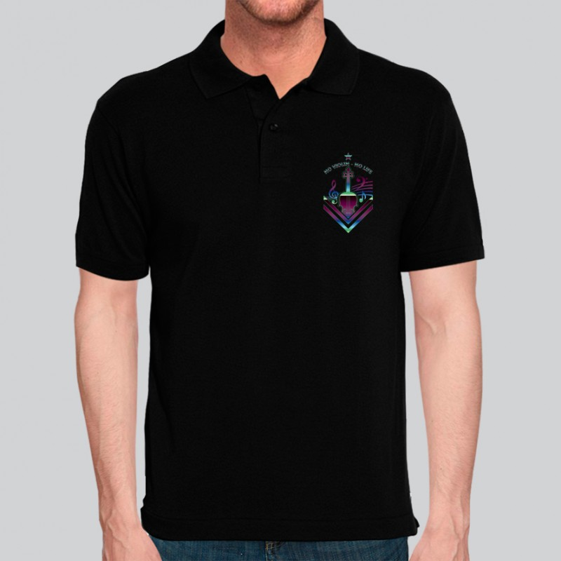 Camiseta Violino Exclusiva Neon Música - Polo