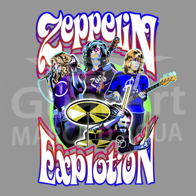 Camiseta Led Zeppelin Explotion Exclusiva Música - Algodão