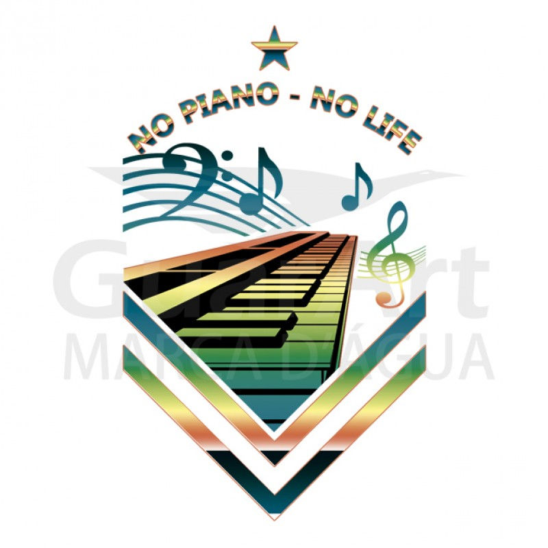 Camiseta Piano Exclusiva Neon Teclado Música - Polo