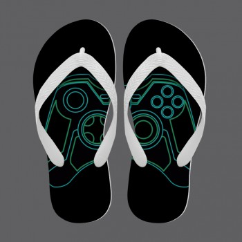 Chinelo Game Joystick Tron Exclusivo